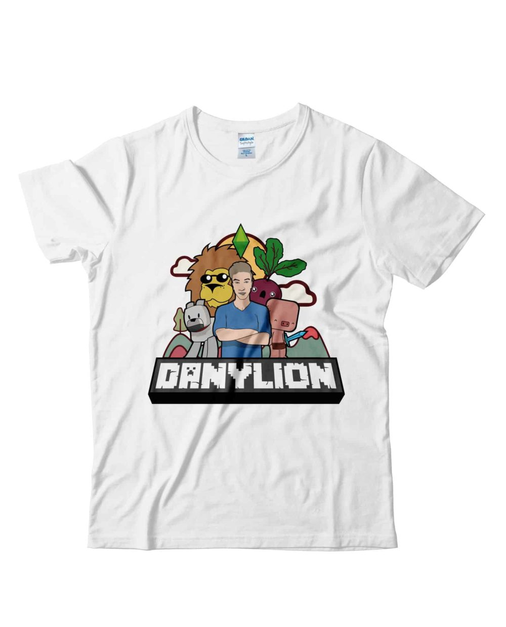Danylion-tshirt-ufficiale-cartoon-tubeshop-italia-youtube