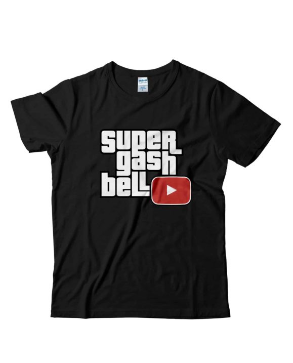 Supergashbell-tshirt-ufficiale-nera-tubeshop-italia-youtube